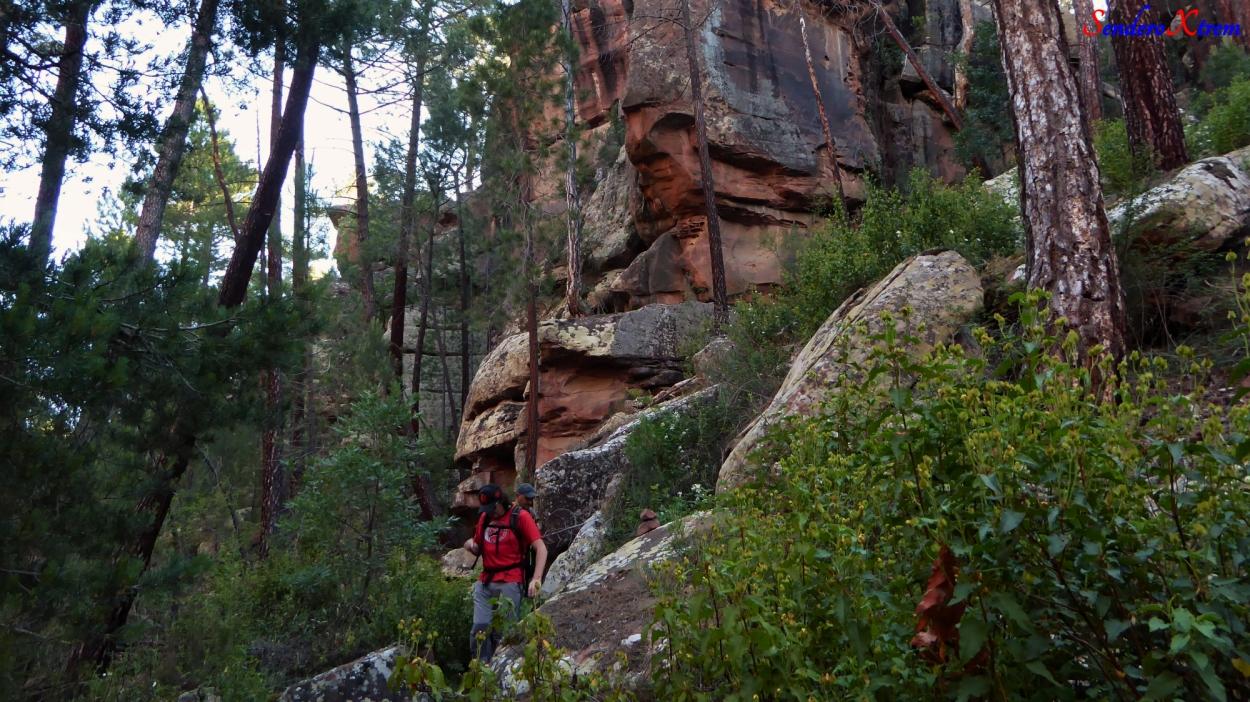 Paisaje de Rodeno en el barranco de Ligros